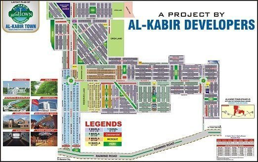 Al Kabir Town Phase 2 Map Lahore tn