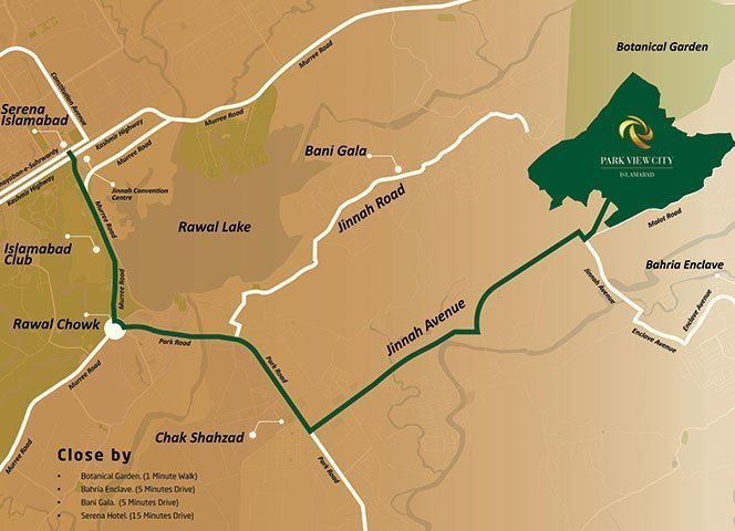 location map park view city isb