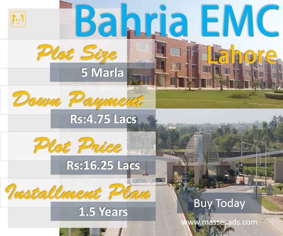 Bahria EMC Plots 5 Marla Installments