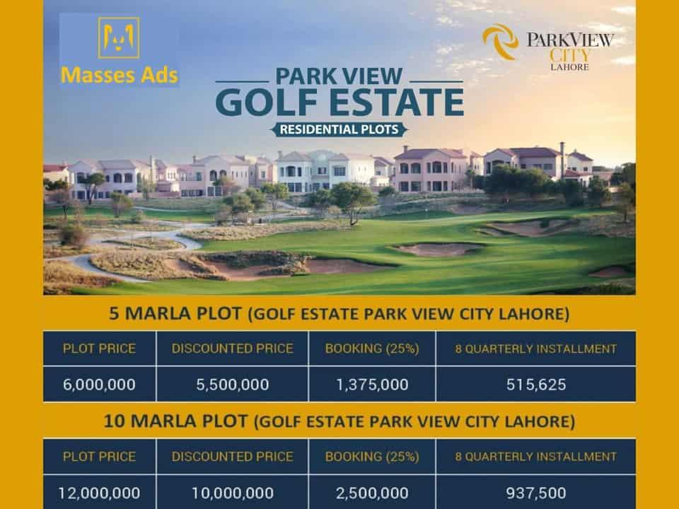 Golf Estate Lahore Park View City Payment Plan ii