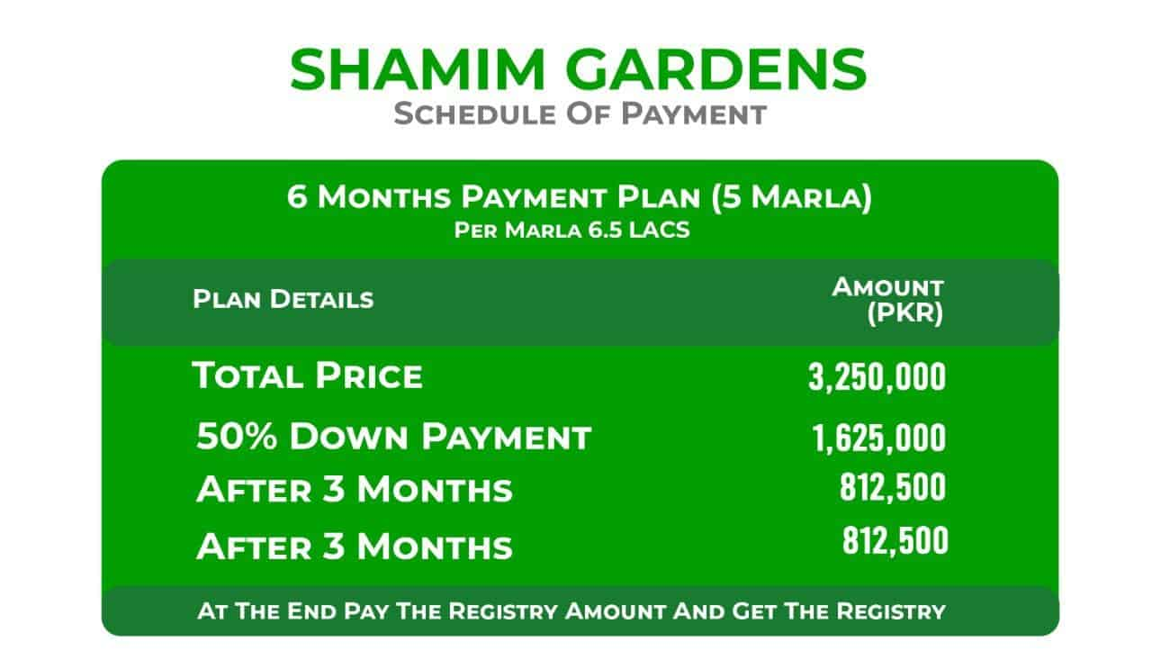 Shamim Gardens Payment Plan